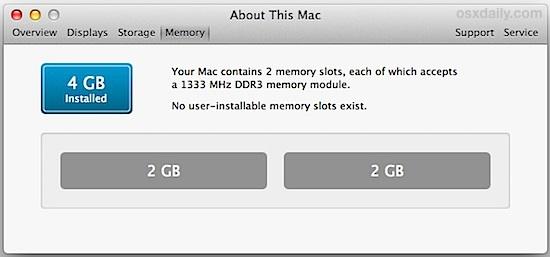 2019 Mac 適用記憶體清單