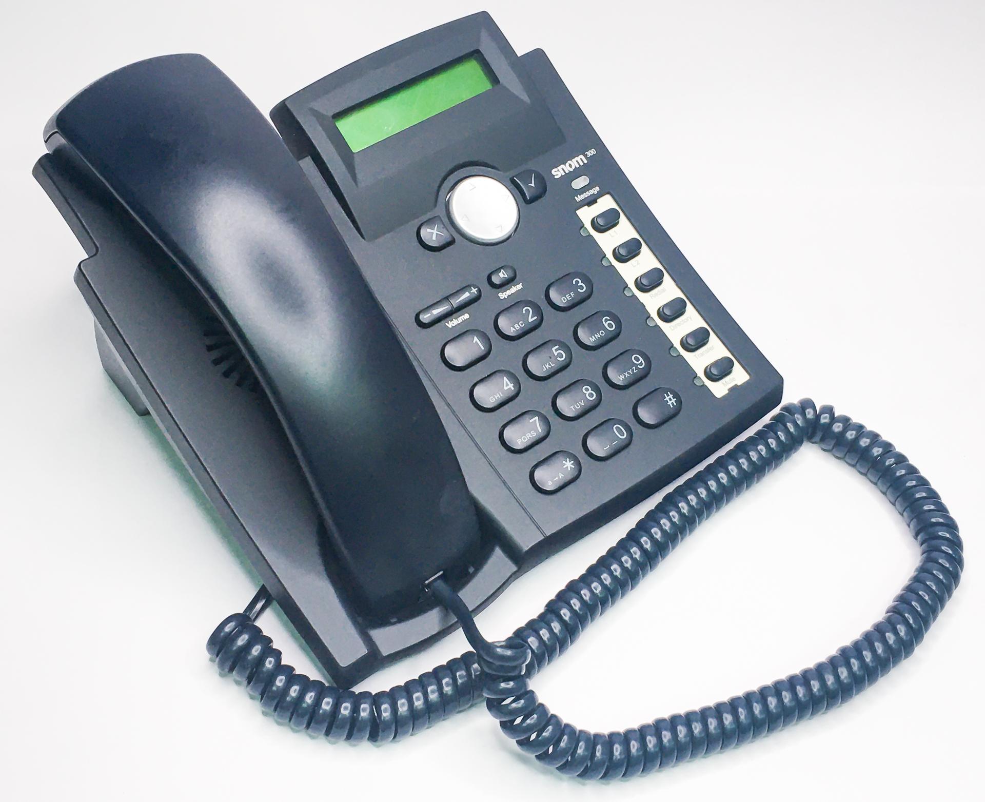 VoIP 實體話機設定簡介 (以snom 300 VoIP商用話機為例)